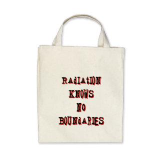 Radiation Knows No Boundaries Anti-Nuclear Tote Bag