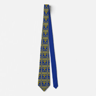 Radiation Oncologist Caduceus Shield Necktie