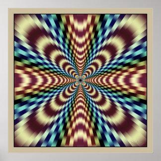 Radiation Optical Illusion Poster