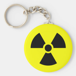 Radiation Sign Key Chain