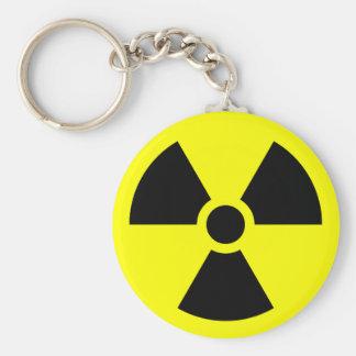 Radiation Sign Key Ring