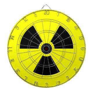 Radiation Sign Metal Cage Dartboard