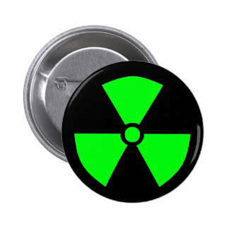 RADIATION SYMBOL 6 CM ROUND BADGE