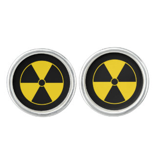 Radiation Symbol Cuff Links