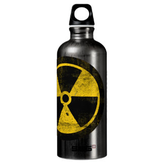 Radiation Symbol, Drink at Your Own Risk Water Water Bottle