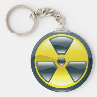 radiation symbol key ring
