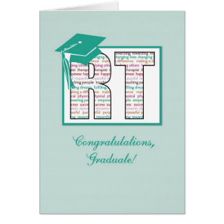 Radiation Therapy Graduation Congratulations, RT Card