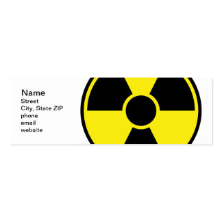 Radiation Warning Sign Pack Of Skinny Business Cards