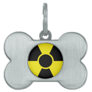 Radiation Warning Sign Pet Name Tag