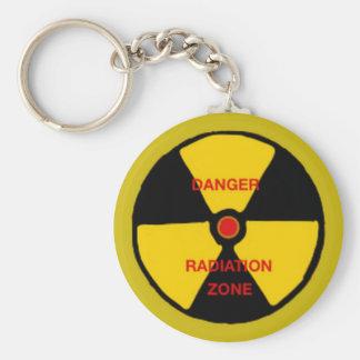 Radiation zone basic round button key ring