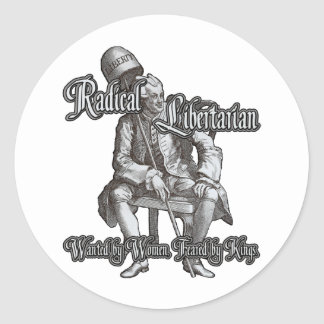 Radical Libertarian Feared by Kings Stickers