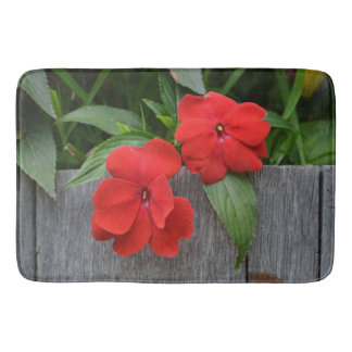 Radically Red Impatiens Bath Mat