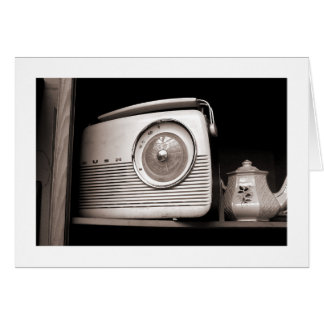 Radio and Teapot Card