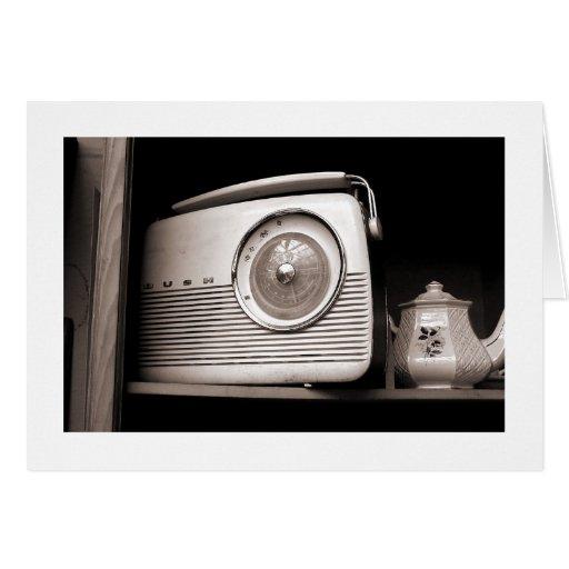 Radio and Teapot Card