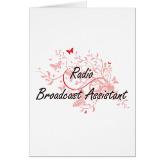Radio Broadcast Assistant Artistic Job Design with Card
