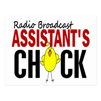 RADIO BROADCAST ASSISTANT'S CHICK POSTCARD