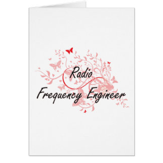Radio Frequency Engineer Artistic Job Design with Card