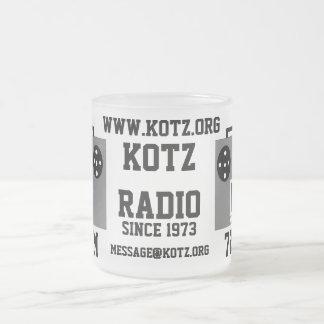 radio frosted glass mug