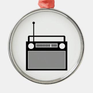 Radio Metal Ornament