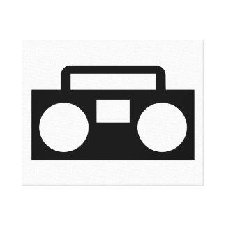 Radio Music Canvas Print
