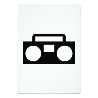 Radio Music 9 Cm X 13 Cm Invitation Card
