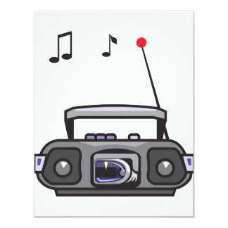 Radio Playing Music Invitations