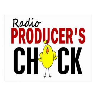 RADIO PRODUCER'S CHICK POSTCARD