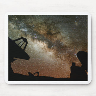 Radio Telescopes and Milky Way Mouse Pad