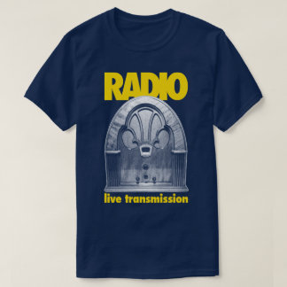Radio Vintage Retro Live Test Transmission T-Shirt