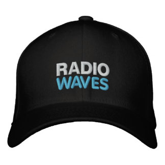 RADIO, WAVES EMBROIDERED BASEBALL CAP