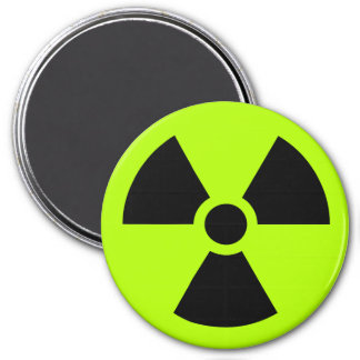 Radioactive 7.5 Cm Round Magnet