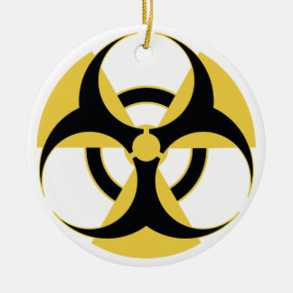 Radioactive Biohazard Ceramic Ornament