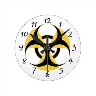 Radioactive Biohazard Round Clock