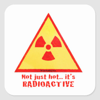 Radioactive Brand Square Sticker