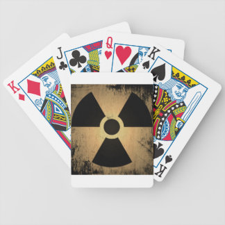 Radioactive danger bicycle playing cards
