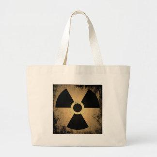 Radioactive danger large tote bag