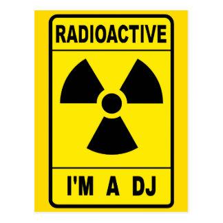 Radioactive DJ Postcard