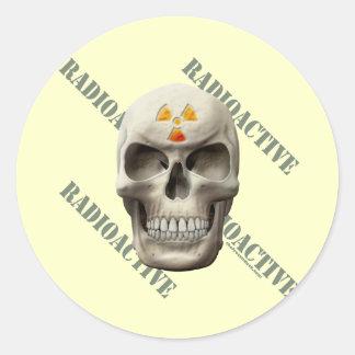 Radioactive Evil Skull Sticker