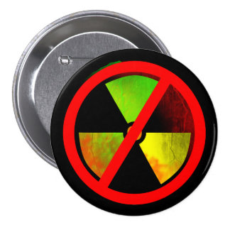 Radioactive Grunge No-Nukes Symbol 7.5 Cm Round Badge