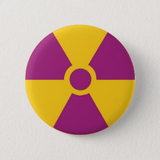 Radioactive Hazard 6 Cm Round Badge