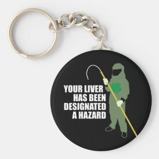 Radioactive Liver Basic Round Button Key Ring