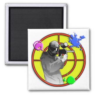Radioactive Neon Paintball Shooter Fridge Magnet