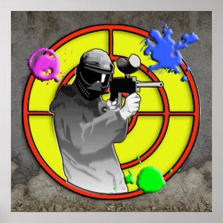 Radioactive Neon Paintball Shooter Poster