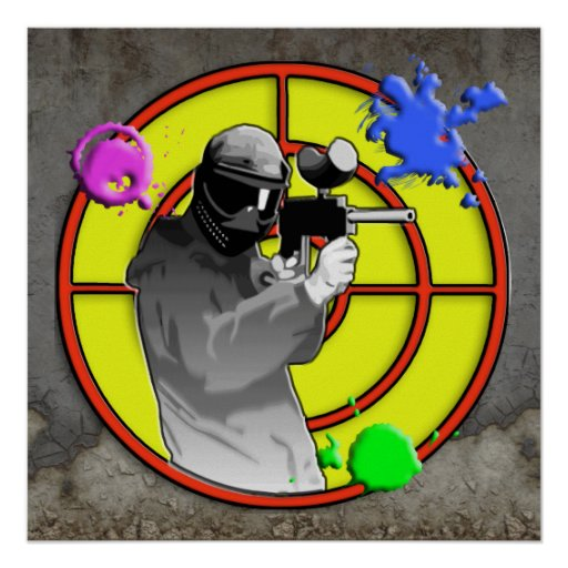 Radioactive Neon Paintball Shooter Poster