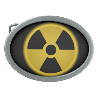 Radioactive Oval Belt Buckle