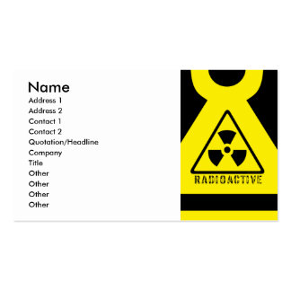 Radioactive Pack Of Standard Business Cards