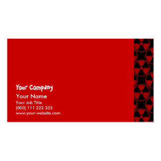 Radioactive pattern on black pack of standard business cards