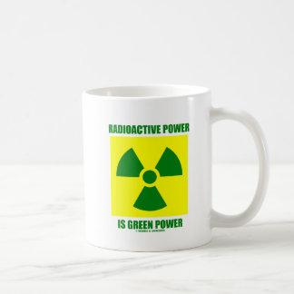Radioactive Power Is Green Power (Sign) Basic White Mug