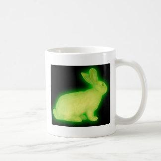 radioactive rabbit coffee mug