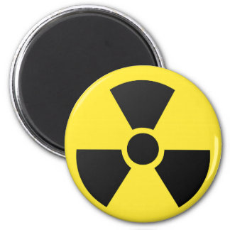Radioactive radiation nuclear atomic symbol 6 cm round magnet